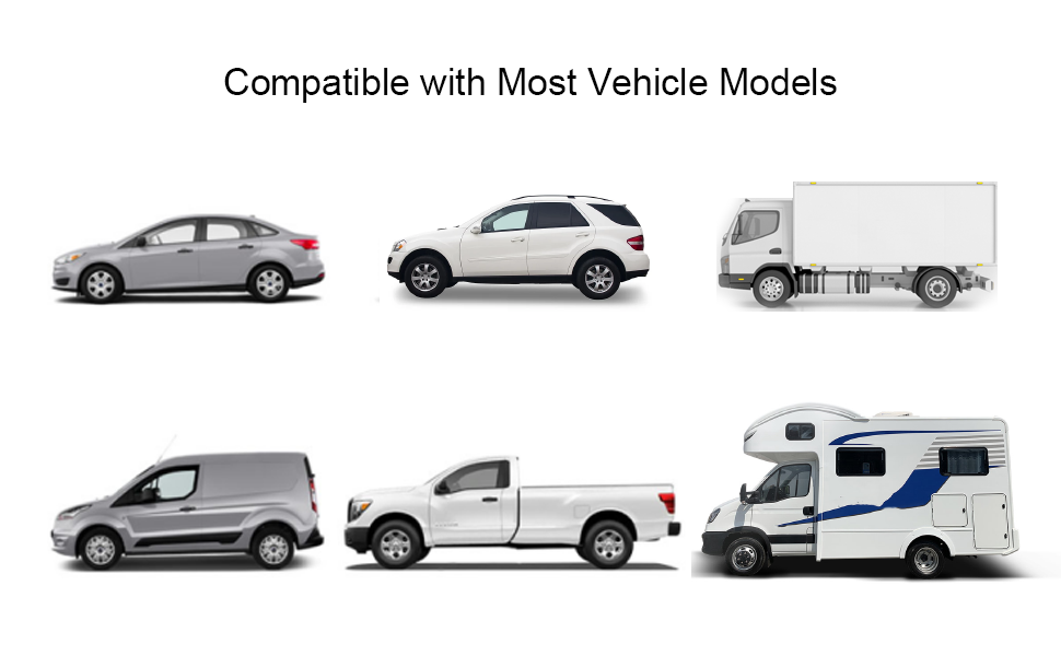Compatible with Most Vehicle Models