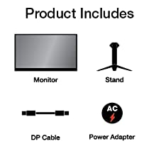 Monitor, Stand, Displayport Cable, Power AC Adapter