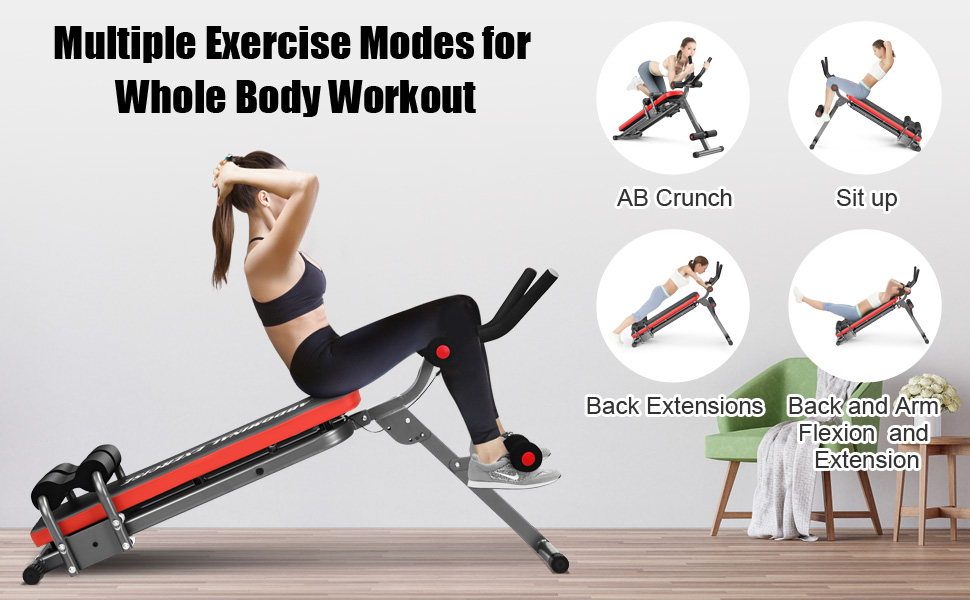 IDEER LIFE Core&Abdominal Trainers Abdominal Workout Machine,Whole Body Workout Equipment