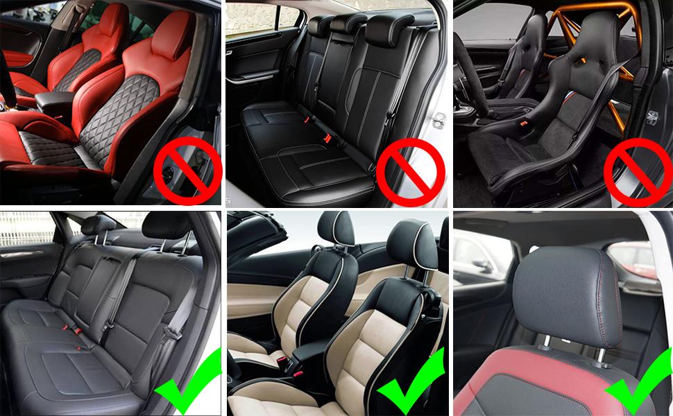 Hopeas Auto Kopfstütze Für Kinder Erwachsene Kissen Nackenstütze Autositz Verstellbar Kohlefaser Gittermuster Schwarz Auto