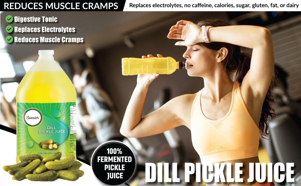Sweeler Pickle Juice for Muscle Cramps