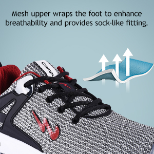 Mesh Upper Wraps the Foot to Enhance Breathbility