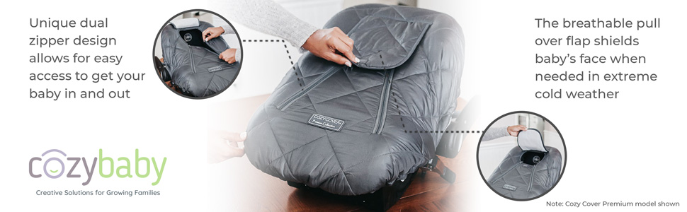 Cozy Cover Infant Carrier, Cozy Cover Premium, Premium Cozy Cover, Protect Baby in Infant Carrier