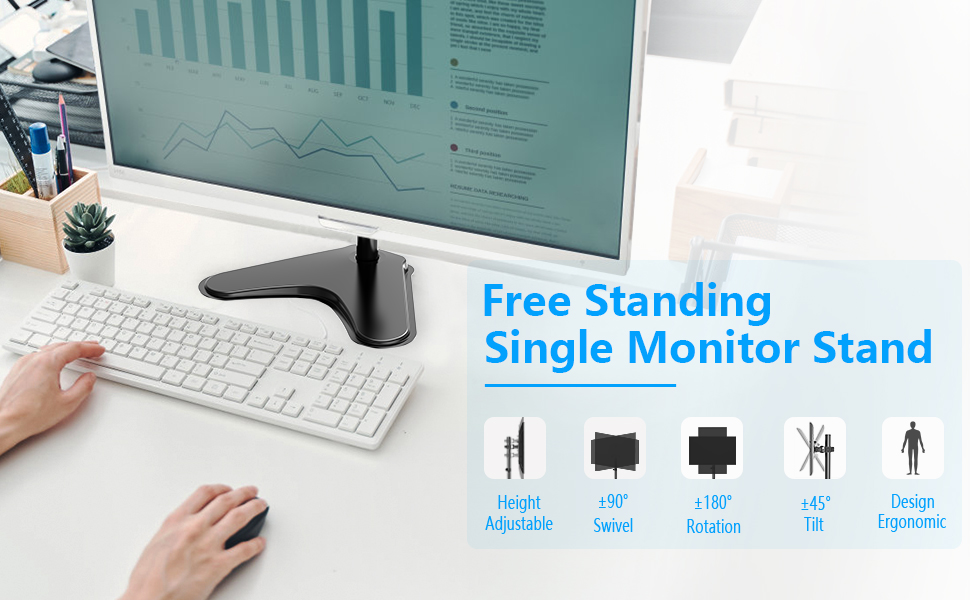 Free Standing Single Monitor Stand