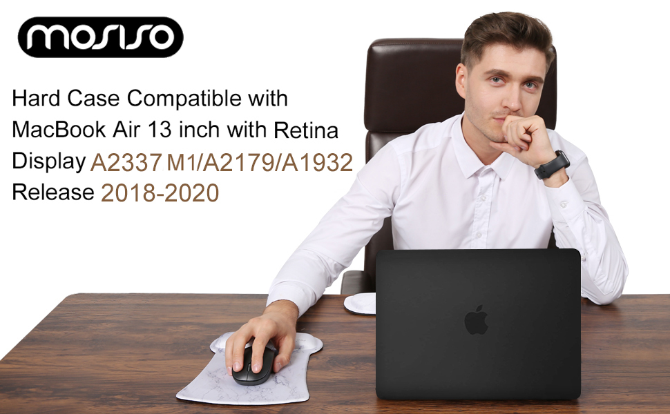 """Clear Hard Plastic Case Shell/&Sleeve/&Screen Protector/&Keyboard Cover/&Dust Plug Compatible with MacBook Air 13/"""" Retina iCasso MacBook Air 13 Inch Case 2018-2020 Release A2237 M1//A2179//A1932 Bundle"""