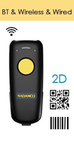 barcode scanner bar code reader wireless cordless 2d qr 1d usb portable screen upc inventory