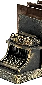 Old Look Typewriter Themed Book End Set unique gifts for a teacher writer Book Shelf Holder Home