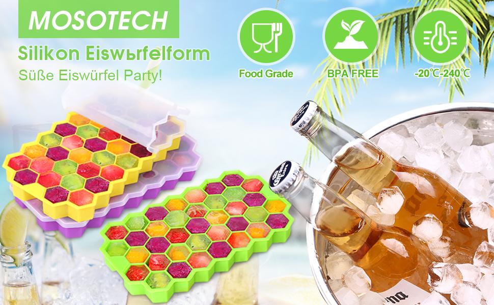 Silikon-Eiswürfelschalen