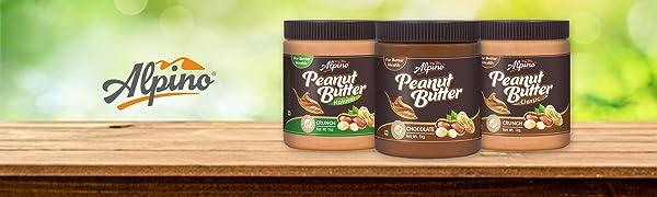 alpino, peanut butter, chocolate, crunch, smooth, healthy snack, peanuts, alpinohealthfoods