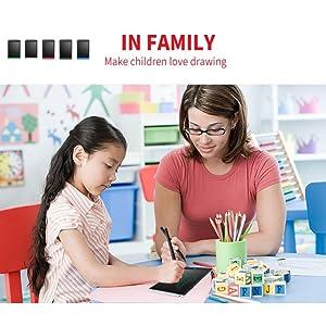 In Family Make Children's Love Drawing