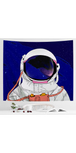Blue astronaut