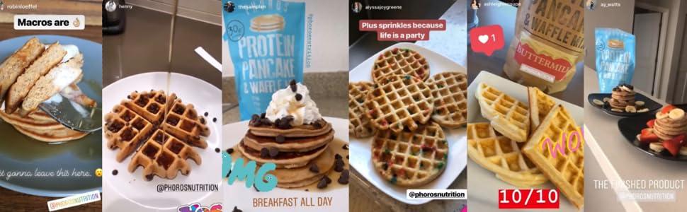 Phoros Nutrition Protein Pancake & Waffle Mix instagram