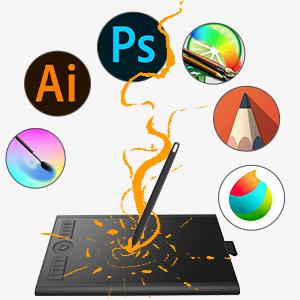 GAOMON  GAOMON 10 x 6,25 Pulgadas Tableta Gráfica Drawing Tablet 8192 Presión de Nivel con Pasiva Pluma-M10K 2018 Versión (M10K2018) a807f2a7 6ca8 4215 bc36 d422b6f8bd7a