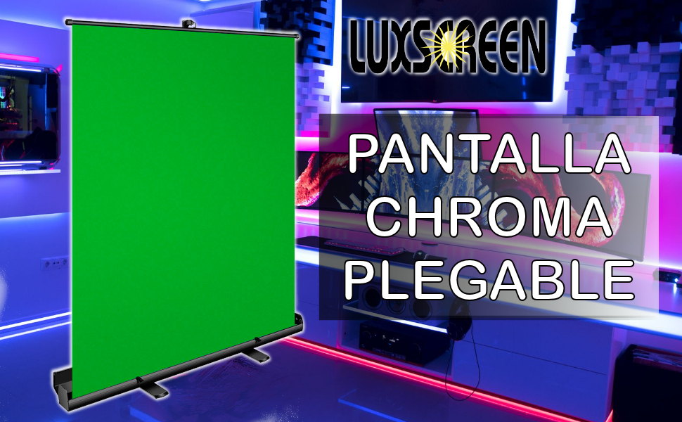 Pantalla chroma verde plegable, pantalla verde, pantalla fondo transparente, pantalla chroma