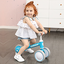 blue baby balance bike
