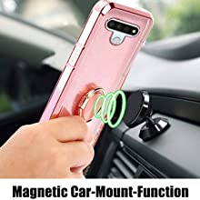 Can attach to magnetic car phone holders