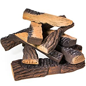 ceramic gas logs for fireplace replacement ceramic logs ceramic wood gas fireplace logs with burner