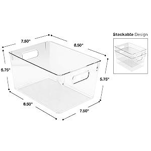 clear storage bin set