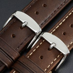 wocci watch bands strap bracelet belt replacement leather for men women brown black buckle pin tool