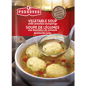 Podravka vegetable soup with semolina dumplings vegan vegetable clear