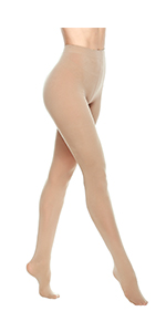 Control Top Pantyhose Footed Tights