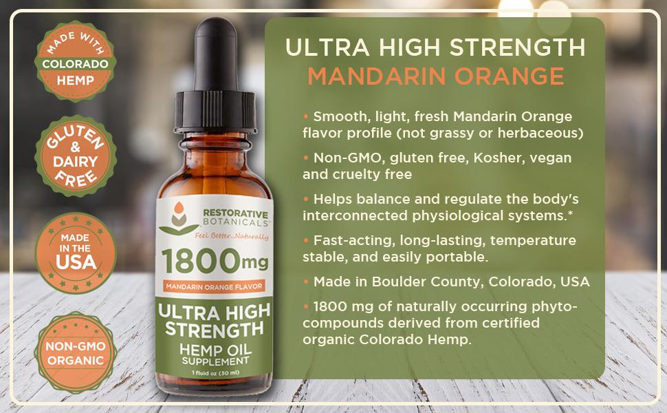 Ultra High Strength 1800 Mandarin Orange
