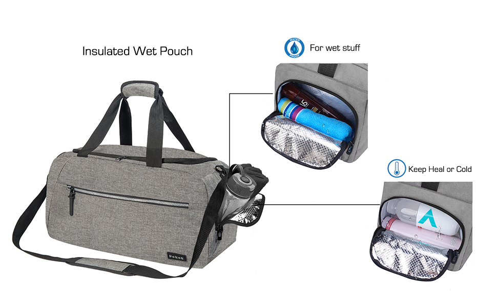 Weekend Bag with Insulated Pocket