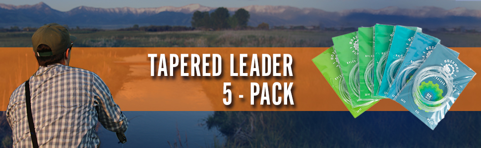 9/' 7.5/' 12/' Bozeman Flyworks 5 Pack Fly Fishing Tapered Leaders