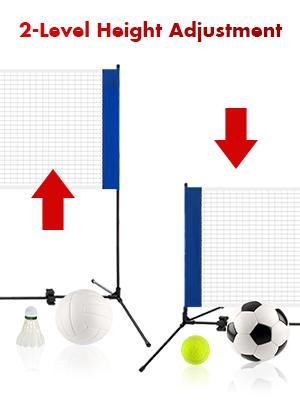 free adjustable badminton net