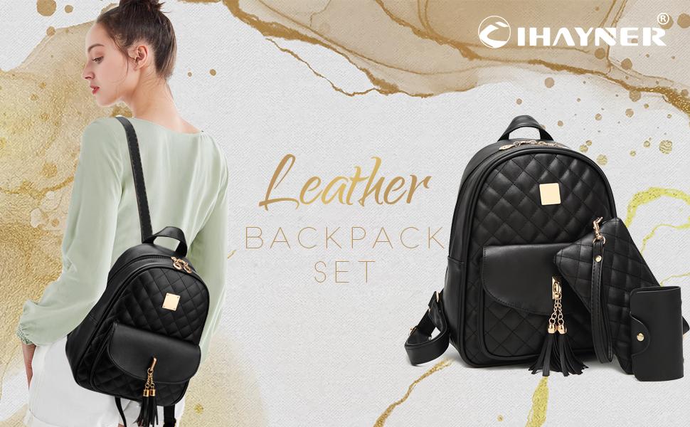 I IHAYNER Women Backpack Ladies Large Backpacks for Womens Multi Pocket Rucksack
