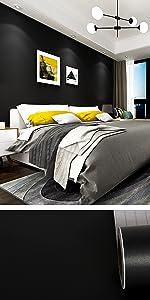 black wallpaper peel and stick