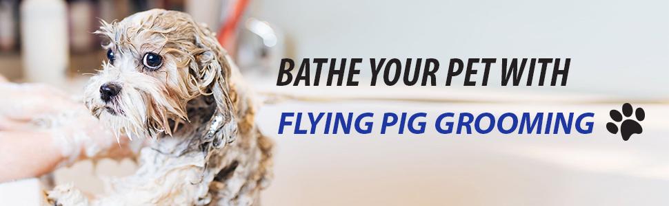 Flying Pig Grooming Dog Cat Pet Washing Grooming Bathtub