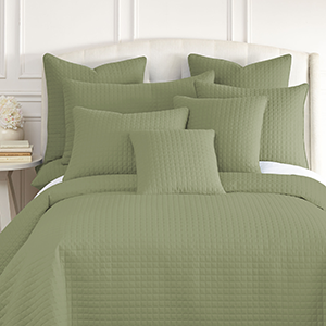 Sage Green Quilted Shams