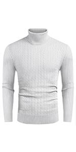 COOFANDY Men's Casual Slim Fit Turtleneck Sweater