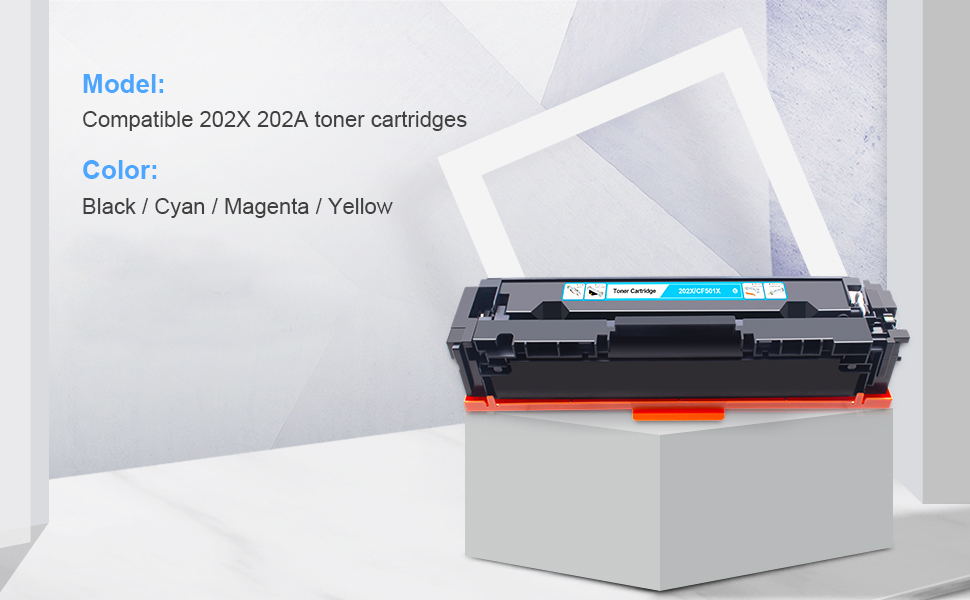 HP 202A toner cartridges