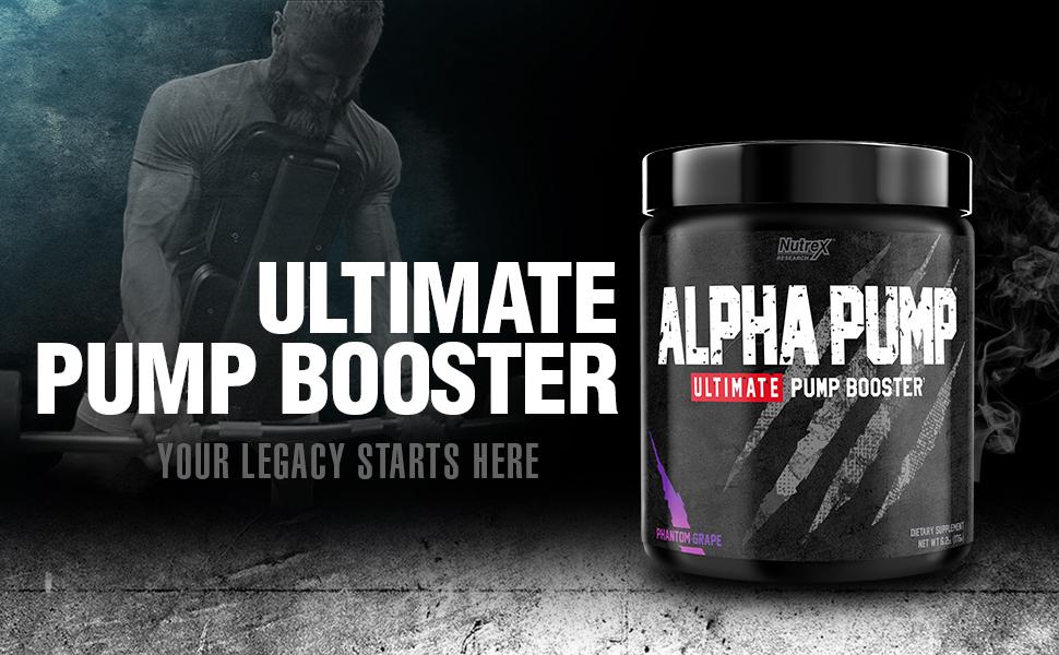 Amazon.com: Nutrex Research Alpha Pump Stim-Free Pre-Workout Pump Booster | Ultimate Muscle Pumps, Non Stimulant Nitric Oxide Preworkout Formula | 20 Servings (Phantom Grape): Health & Personal Care