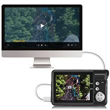 "Flashandfocus.com a8357951-ae54-4a02-ad2e-c991996bf0e8.__CR0,0,220,220_PT0_SX220_V1___ AbergBest 21 Mega Pixels 2.7"" LCD Rechargeable HD Digital Camera,Video camera Digital Students cameras,Indoor Outdoor for Adult/Seniors/Kids (Black)"