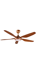 reiga 65-in Ceiling Fan with Remote Control Reversible Motor