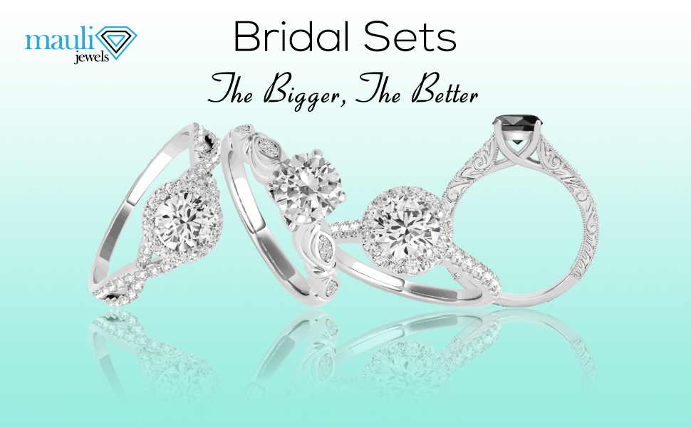 bridal set Rings, Engagement rings, wedding bands, wedding sets, Halo engagement rings.
