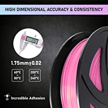 Choose from 15 Beautiful Colors .02mm Ataraxia Art Highest Quality Tangle and Clog-Free PETG 3D Printer Filament 1.75mm with a Dimensional Accuracy Incredible Strength and Layer bonding. //