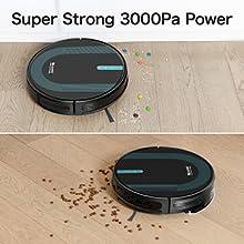 3000Pa güçlü emiş gücü