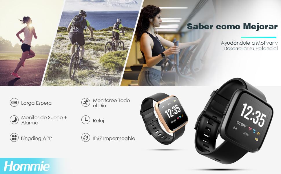 Hommie Smartwatch, S2 Reloj Inteligente con Pantalla Táctil ...