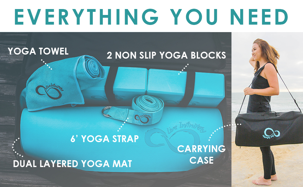 Amazon.com : Live Infinitely Complete 6 Piece Yoga Set 6mm