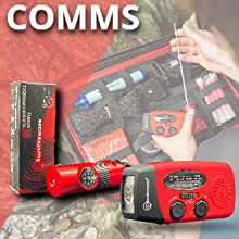EMERGENCY RADIO,WHISTLE,hurricane emergency preparedness kit,the seventy 2 survival kit