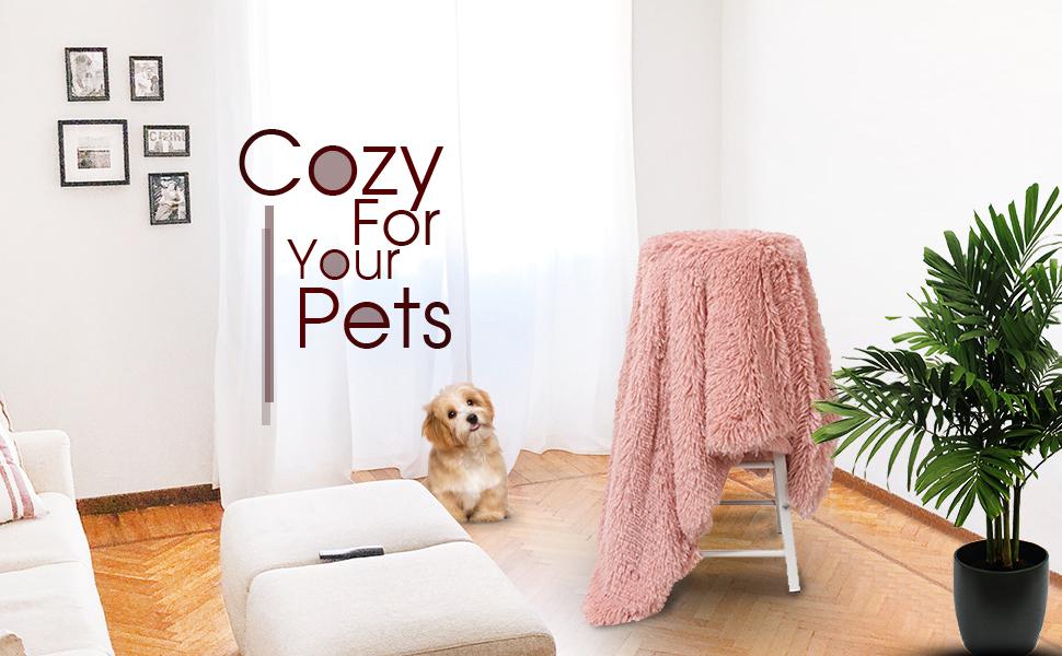 fluffy fleece pet blanket