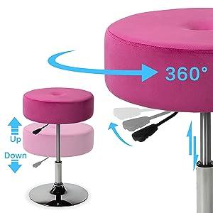 vanity stool adjustable