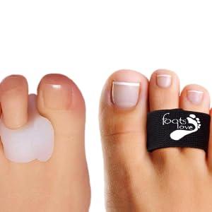 toe tape, toe splints, toe braces, toe tubes, toe padding, bunions, hammer toes, mallet toes, toes