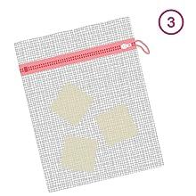 3. Stockez vos carrés dans un filet