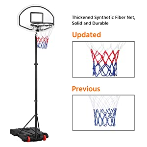portable basketball hoop adjustable height