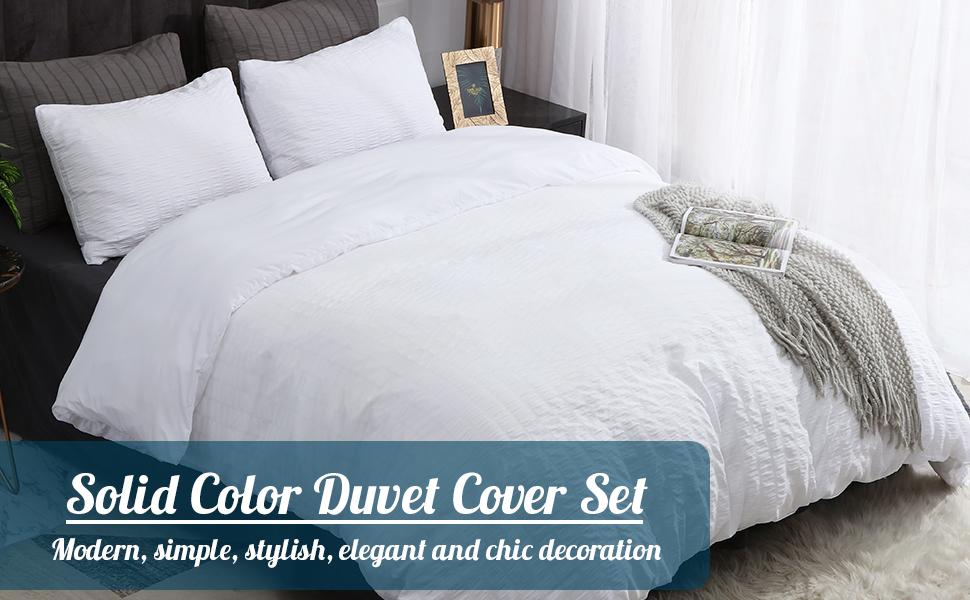 solid color duvet cover set